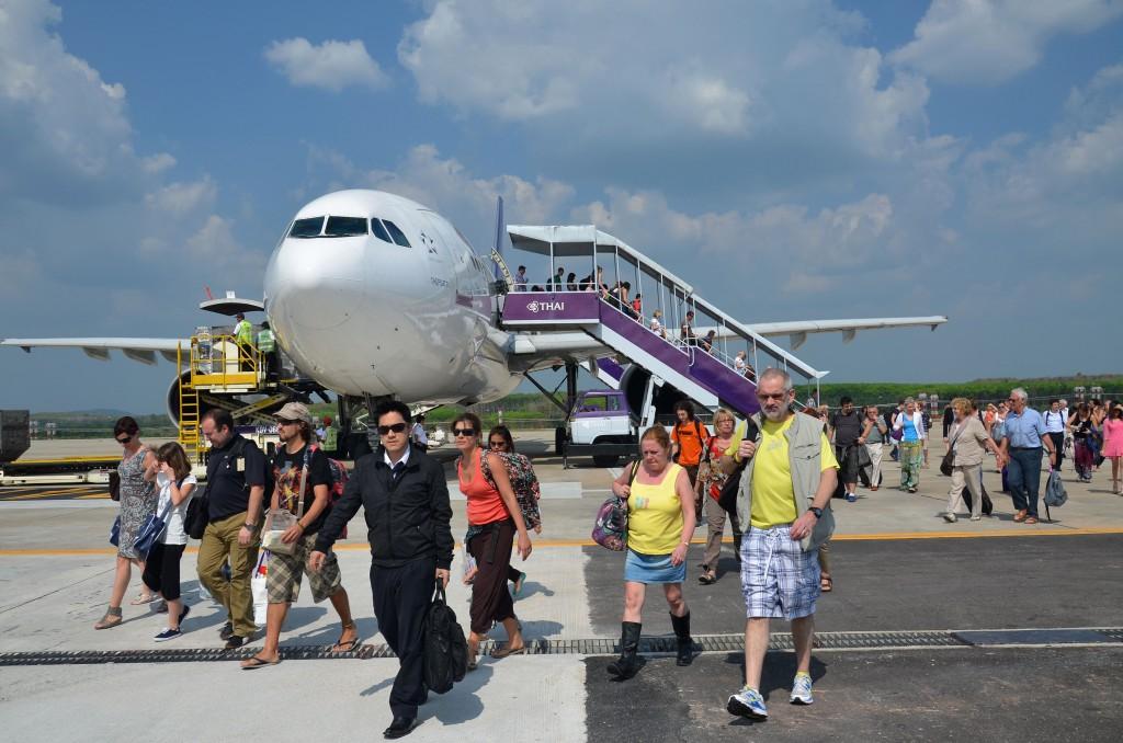 Arriving at Krabi airport
