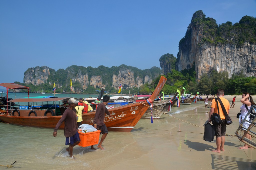 Unloading at Railay West