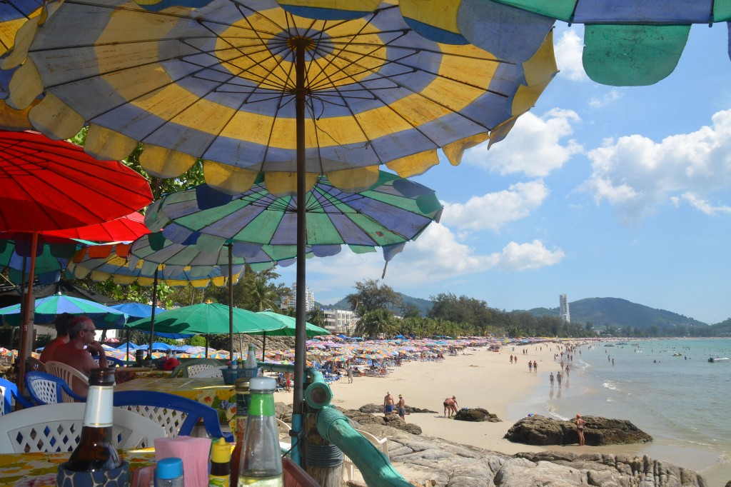 Patong beach north view from the cafe