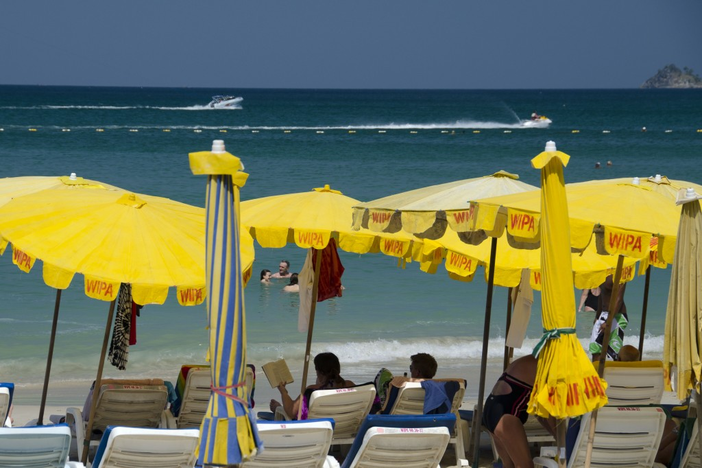 Patong beach, Phuket on a hot, hot day