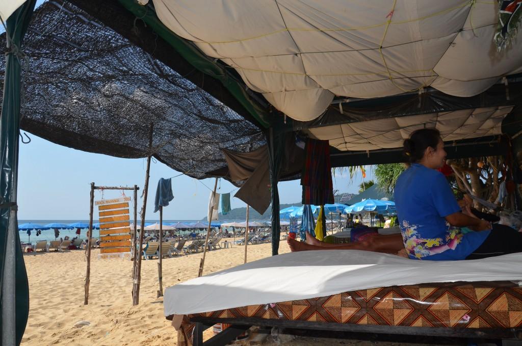 Massage on Karon beach