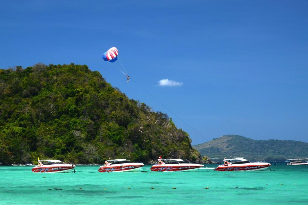Parasailing of Coral Island, Phuket