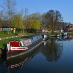 Iona narrow boat at Godalming