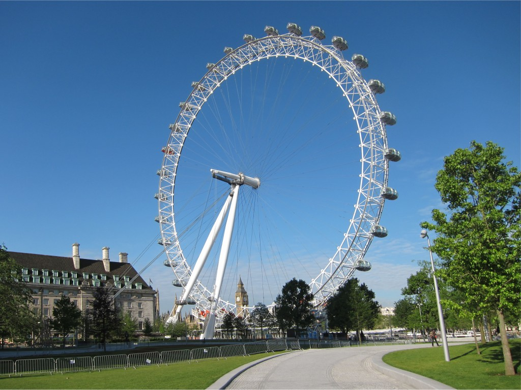 London Eye from Jubilee Gardens
