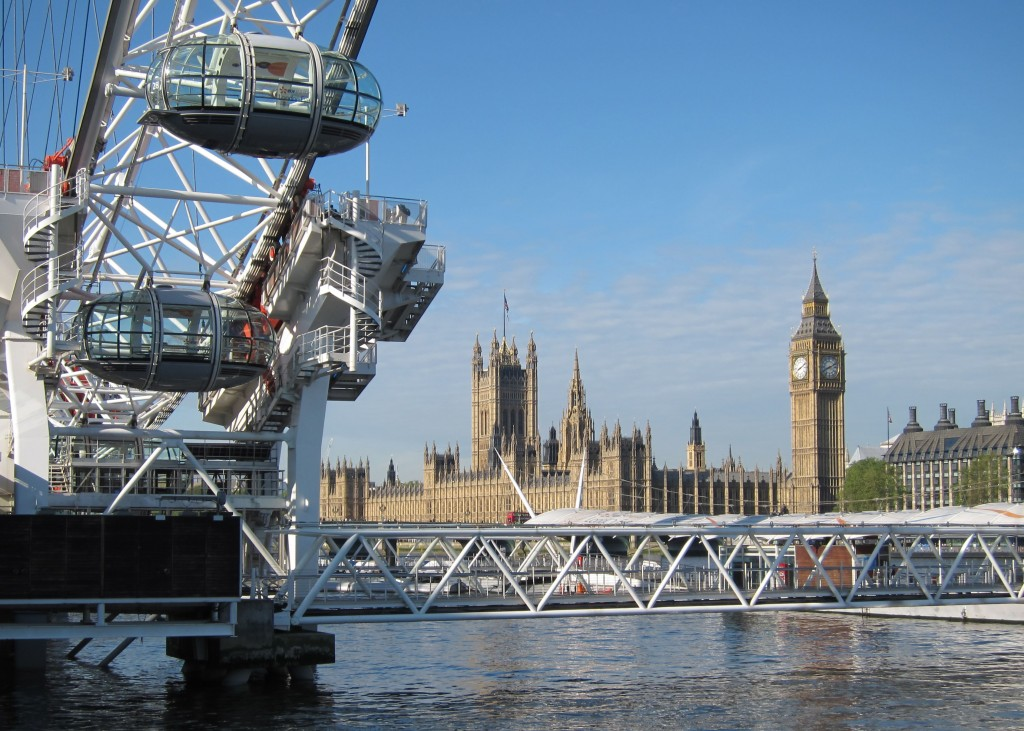 London Eye and the Palace of Westminster