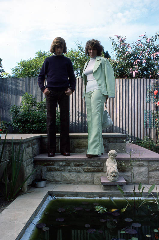 Pat and Terry Grange Rd pond_1975